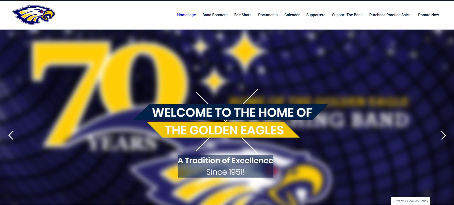 Naples High School Band Website Design